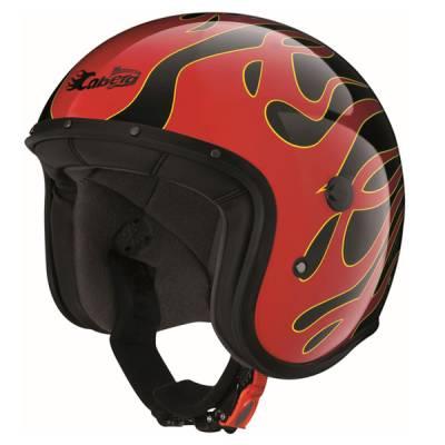 Caberg Helm Freeride Flame, schwarz-rot