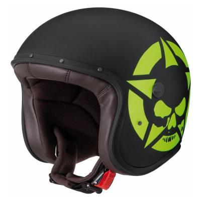 Caberg Helm Freeride Skullvizion, mattschwarz-gelb