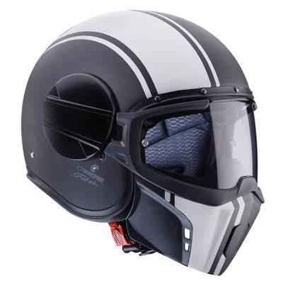 Caberg Helm Jet Ghost Legend, schwarz-matt-weiß