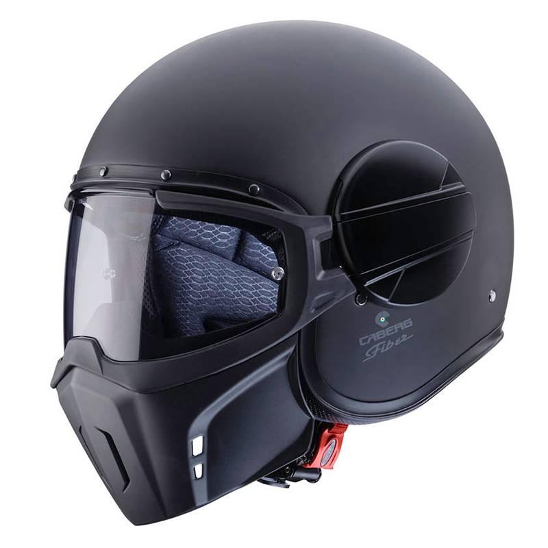 Caberg Helm Jet Ghost, schwarz-matt