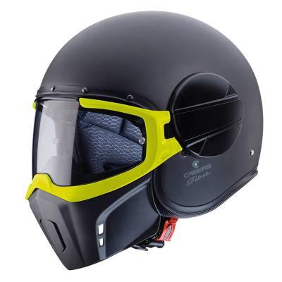 Caberg Helm Jet Ghost, schwarz-matt-fluogelb