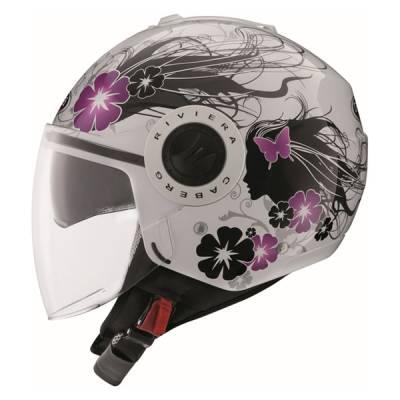 Caberg Helm Riviera V3 Diva, weiß-schwarz-lila
