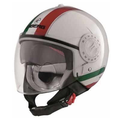 Caberg Helm Riviera V3 Italia, weiß-rot-grün
