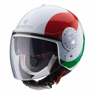 Caberg Helm Riviera V3 Sway Italia, weiß-rot-grün
