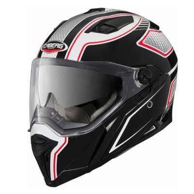 Caberg Helm Stunt Blade, schwarz-weiß-rot