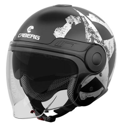 Caberg Helm Uptown Gear, schwarz-weiß-matt