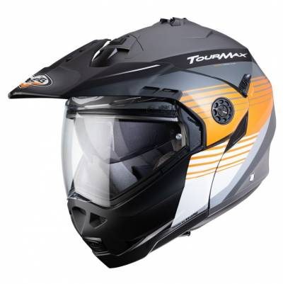 Caberg Klapphelm Tourmax Titan, grau-orange-weiß-matt