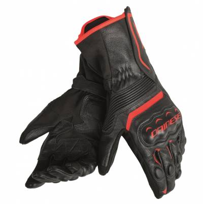 Dainese Handschuhe Assen, schwarz-schwarz-fluorot