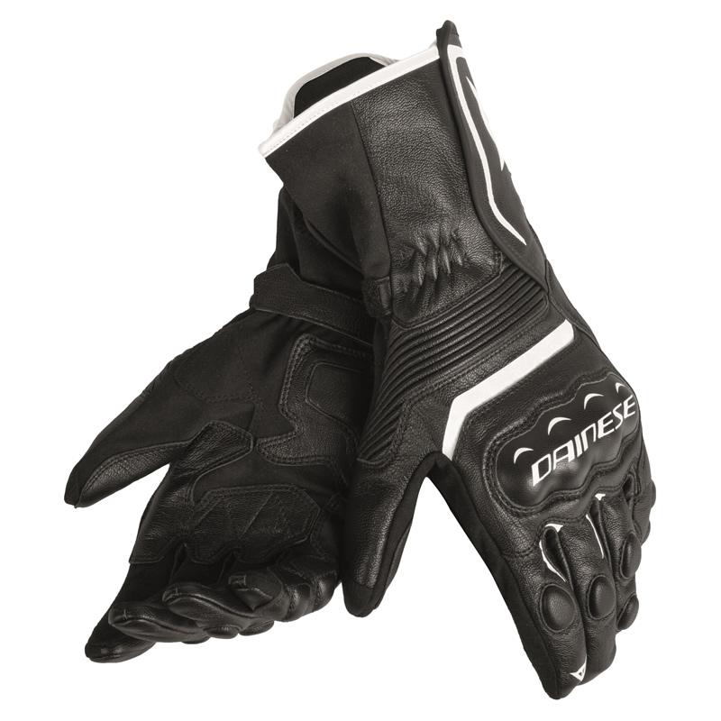 Dainese Handschuhe Assen, schwarz-schwarz-weiß