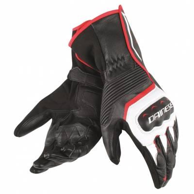 Dainese Handschuhe Assen, schwarz-weiß-lavarot