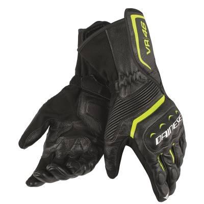 Dainese Handschuhe Assen VR46, schwarz-fluogelb-weiß