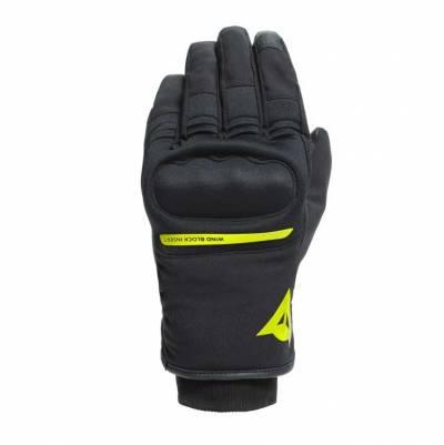 Dainese Handschuhe Avila D-Dry, schwarz-fluogelb