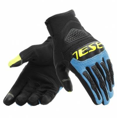 Dainese Handschuhe Bora, schwarz-blau-fluogelb