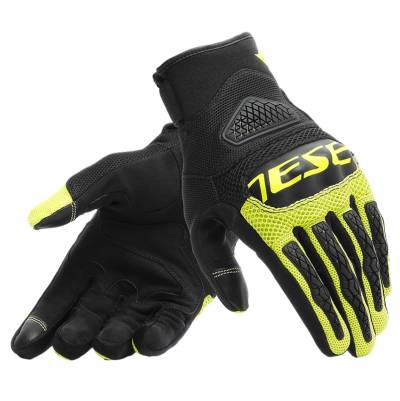 Dainese Handschuhe Bora, schwarz-fluogelb