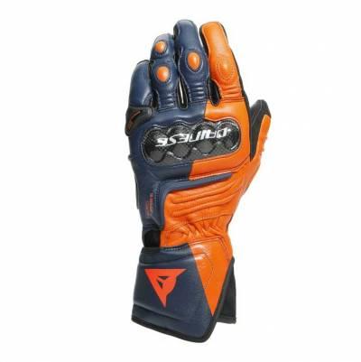 Dainese Handschuhe Carbon 3 Long, blau-orange-fluorot