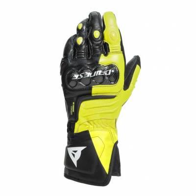 Dainese Handschuhe Carbon 3 Long, schwarz-fluogelb