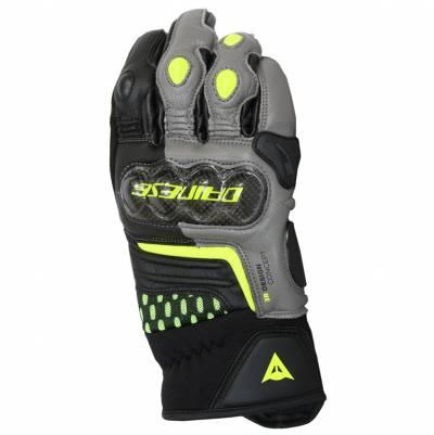 Dainese Handschuhe Carbon 3 Short, schwarz-grau-fluogelb