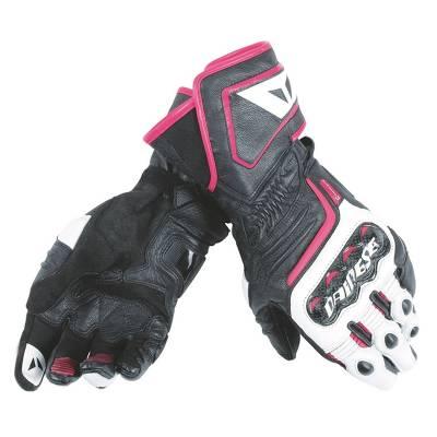Dainese Handschuhe Carbon D1 Lady, schwarz-weiß-fuchsia