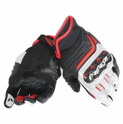 Dainese Handschuhe Carbon D1 short, schwarz-weiß-rot