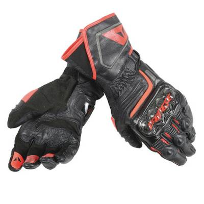 Dainese Handschuhe Carbon long D1, schwarz-fluorot
