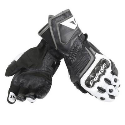 Dainese Handschuhe Carbon long D1, schwarz-weiß-antrazit