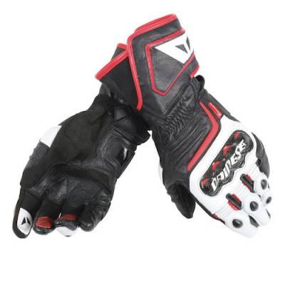 Dainese Handschuhe Carbon long D1, schwarz-weiß-rot