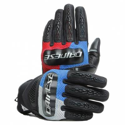 Dainese Handschuhe D-Explorer 2, grau-blau-rot-schwarz