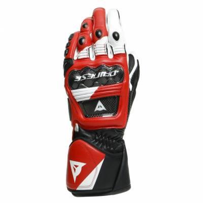Dainese Handschuhe Druid 3, schwarz-weiß-rot