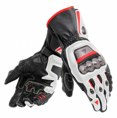 Dainese Handschuhe Full Metal 6, schwarz-weiß-rot