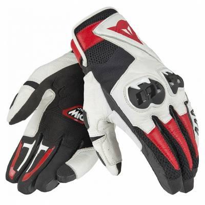 Dainese Handschuhe Mig C2, schwarz-weiß-rot