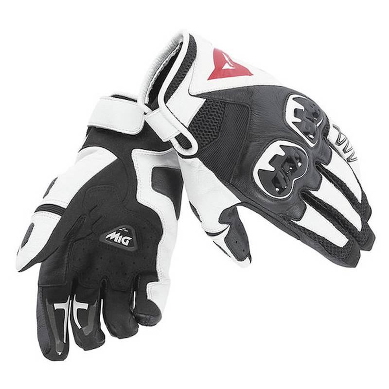Dainese Handschuhe Mig C2, schwarz-weiß-schwarz