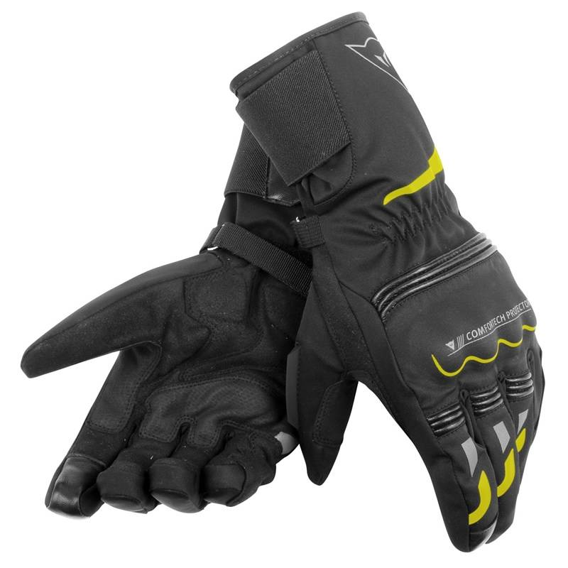 Dainese Handschuhe Tempest Ddry long, schwarz-fluogelb