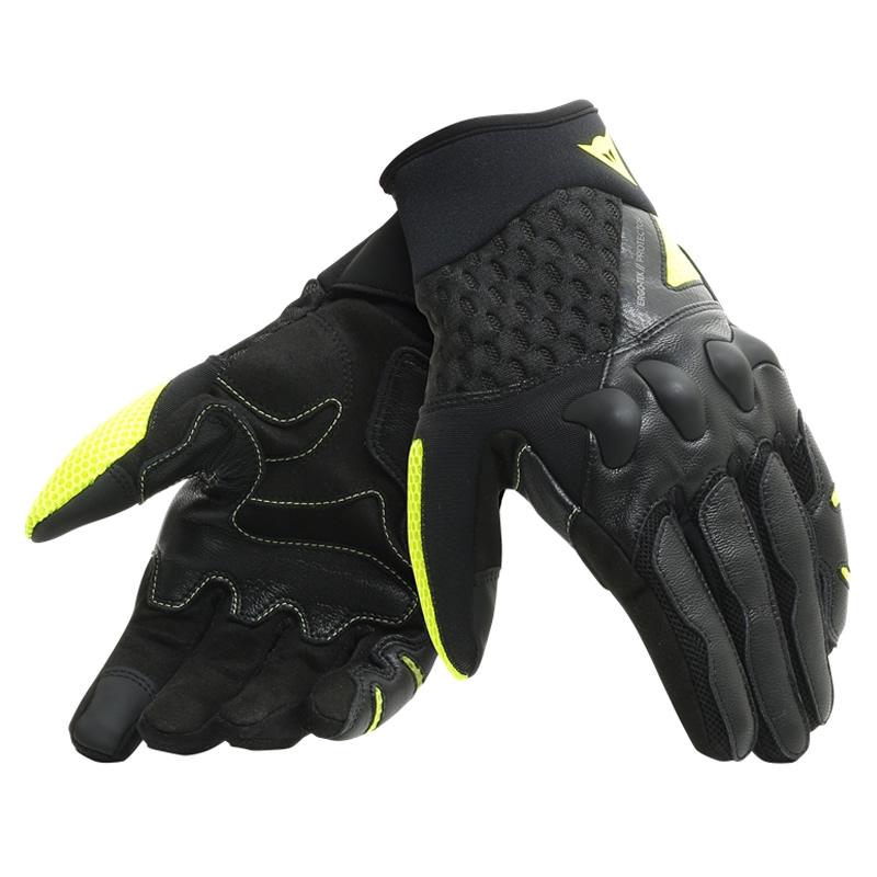 Dainese Handschuhe X-Moto, schwarz-fluogelb