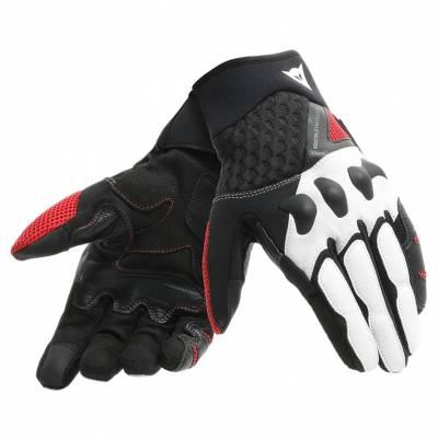 Dainese Handschuhe X-Moto, schwarz-weiß-rot