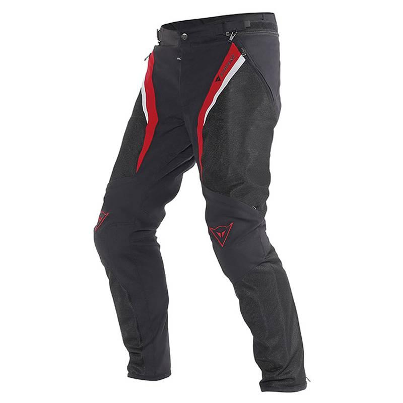 Dainese Hose Drake Super Air Tex, schwarz-rot-weiß