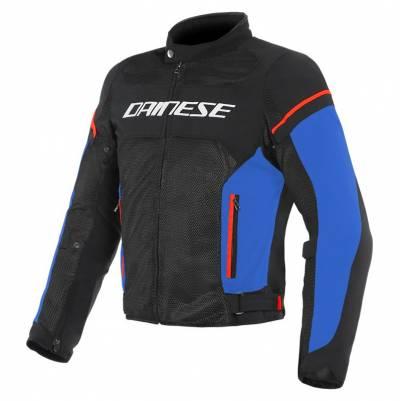 Dainese Jacke Air Frame D1 Tex, schwarz-hellblau-fluorot