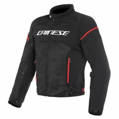 Dainese Jacke Air Frame D1 Tex, schwarz-weiß-fluorot