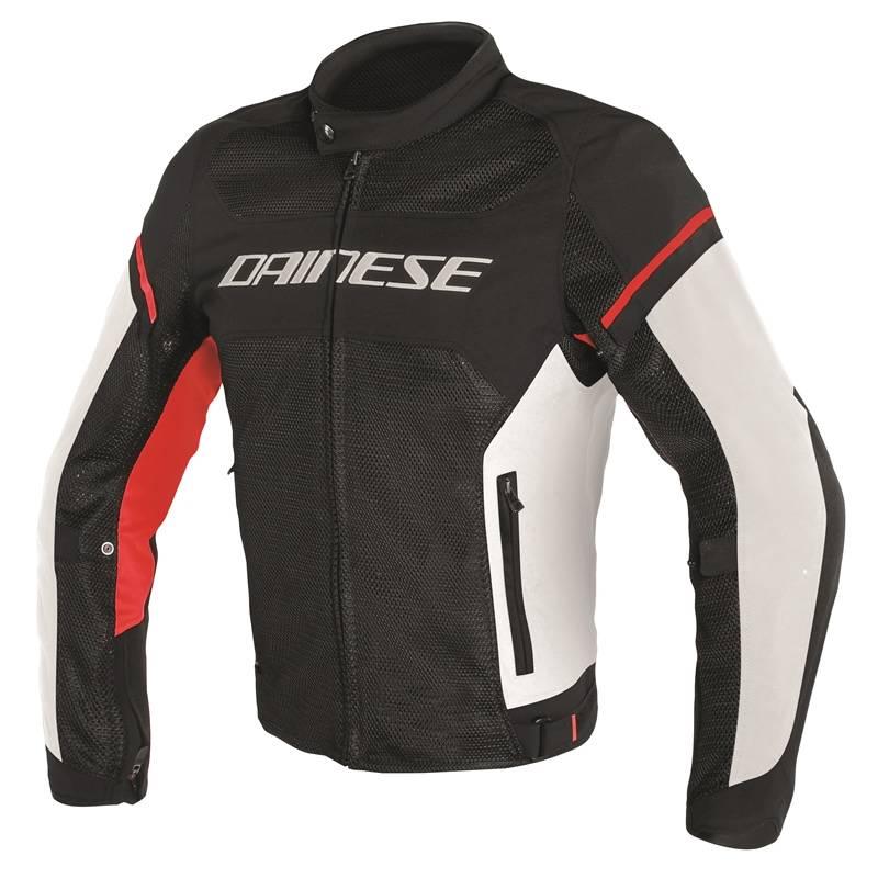 Dainese Jacke Air Frame D1 Tex, schwarz-weiß-rot