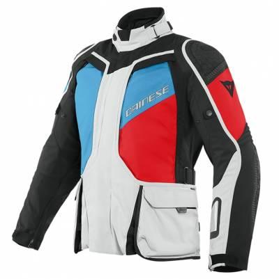 Dainese Jacke D-Explorer 2 GTX, hellgrau-blau-rot-schwarz