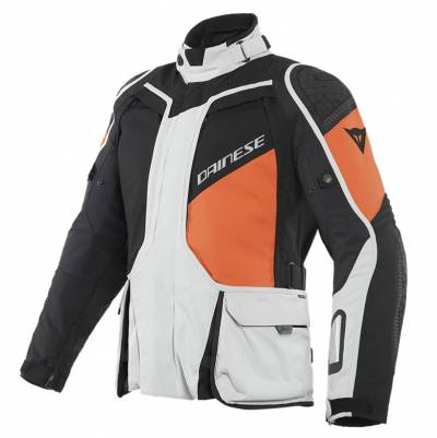 Dainese Jacke D-Explorer 2 GTX, hellgrau-orange-schwarz