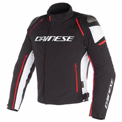 Dainese Jacke Racing 3 D-Dry, schwarz-weiß-fluorot