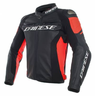 Dainese Jacke Racing 3 - perforiert, schwarz-fluorot