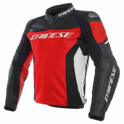 Dainese Jacke Racing 3, rot-schwarz-weiß