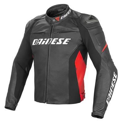 Dainese Jacke Racing Pelle, schwarz-weiß-rot