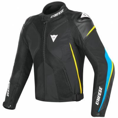 Dainese Jacke Super Rider D-Dry, schwarz-blau-fluogelb