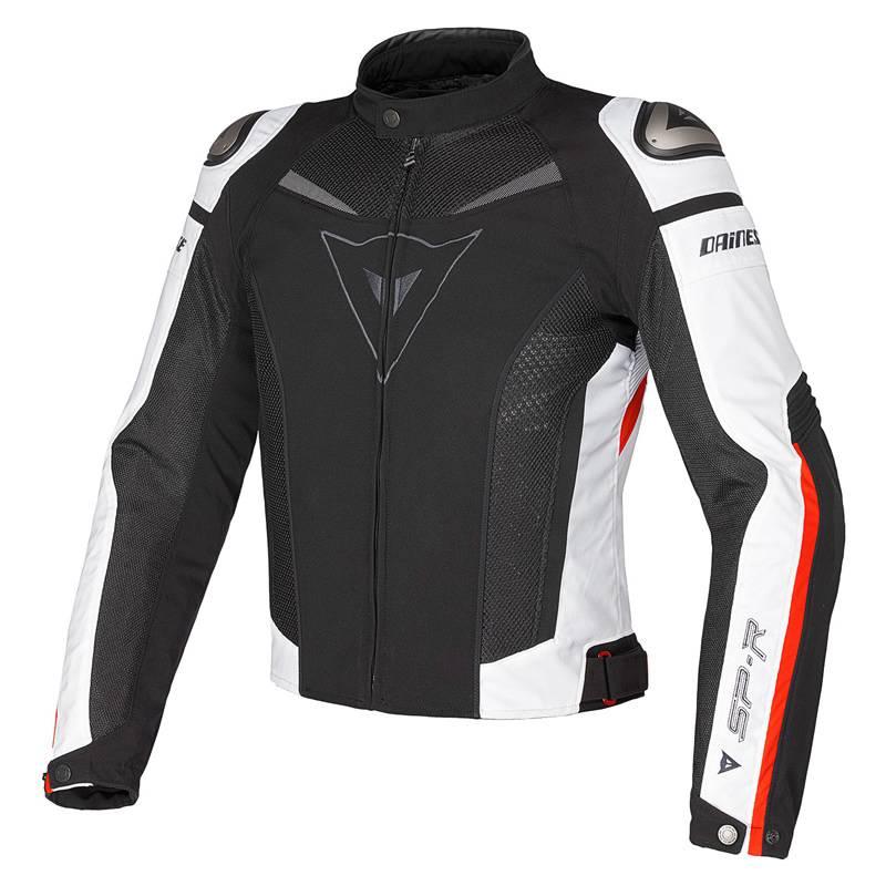 Dainese Jacke Super Speed Tex, schwarz-weiß-rot