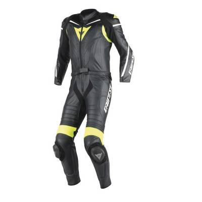 Dainese Kombi Laguna Seca D1, schwarz-gelbfluo