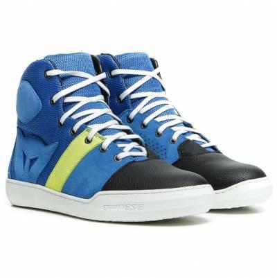 Dainese Schuhe York Air, blau-fluogelb