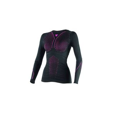 Dainese Shirt D-Core Thermo Lady lang, schwarz-fuchsia