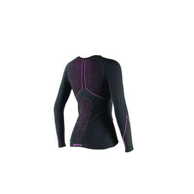 Dainese Shirt D-Core Thermo Lady lang, schwarz-fuchsia